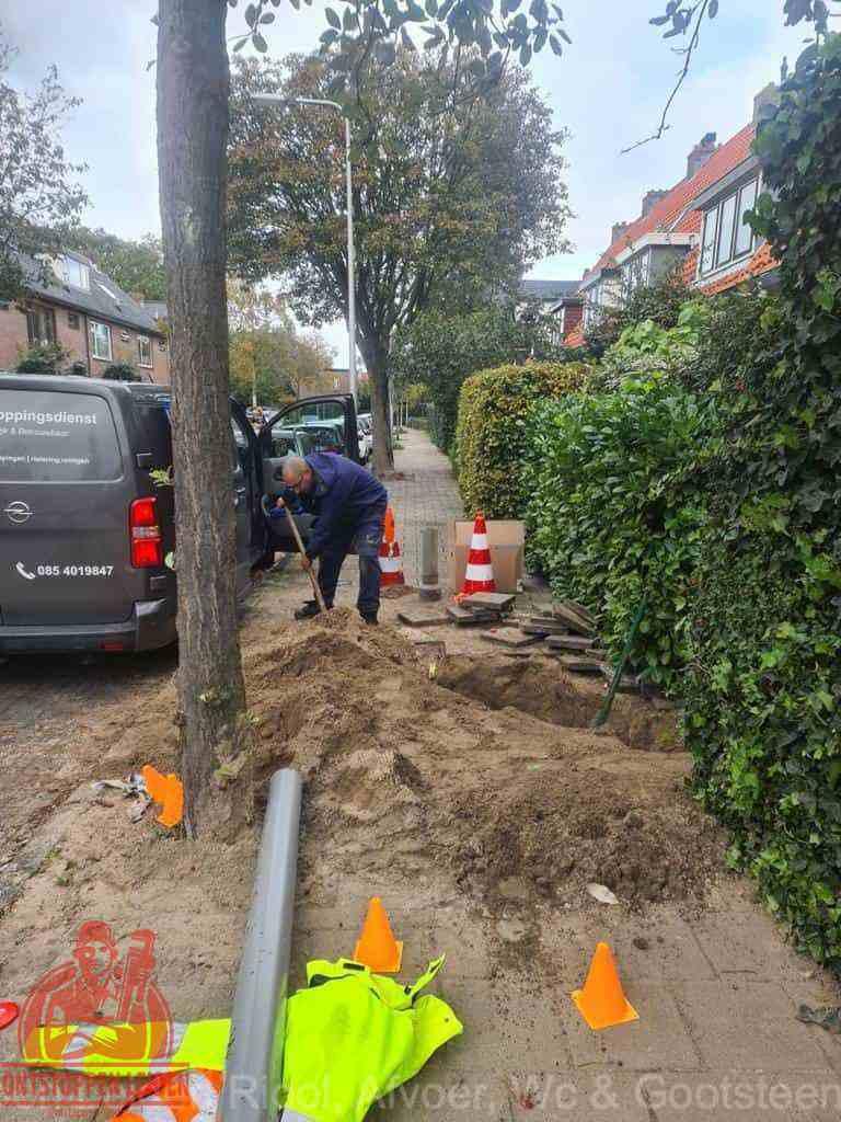 Graven riool Leiden